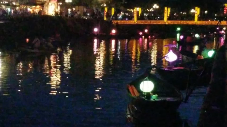 A view of the pictureque riverside in Hoi An, Vietnam